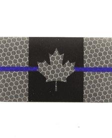 Canada Flag - Black and Grey Thin Blue Line - Hi Vis