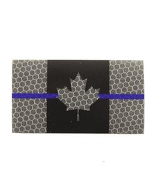 Canada Flag - Black and Grey Thin Blue Line - Hi Vis