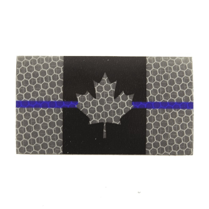 Patch Panel Canada Flag - Black and Grey Thin Blue Line - Hi Vis