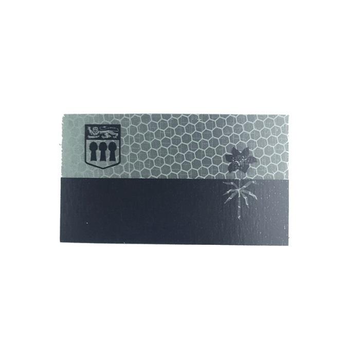 Patch Panel Saskachewan Flag - Black and Grey - Hi Vis