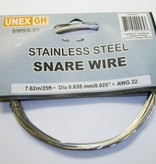 """UNEX Snare Wire - Stainless Steel - 25' roll - 0.025"""""""