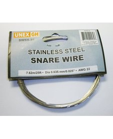 Snare Wire - Stainless Steel - 25' roll - 0.025""
