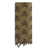 Arab Shemagh With Skull Print - Olive Drab