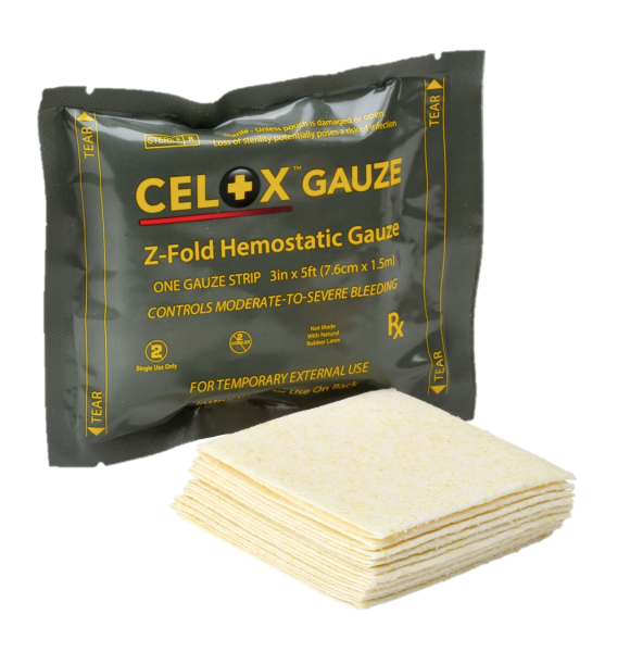 Celox Gauze, 5' Z-fold