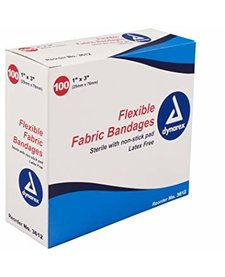 "Flexible Fabric Bandages (1""x3"")"