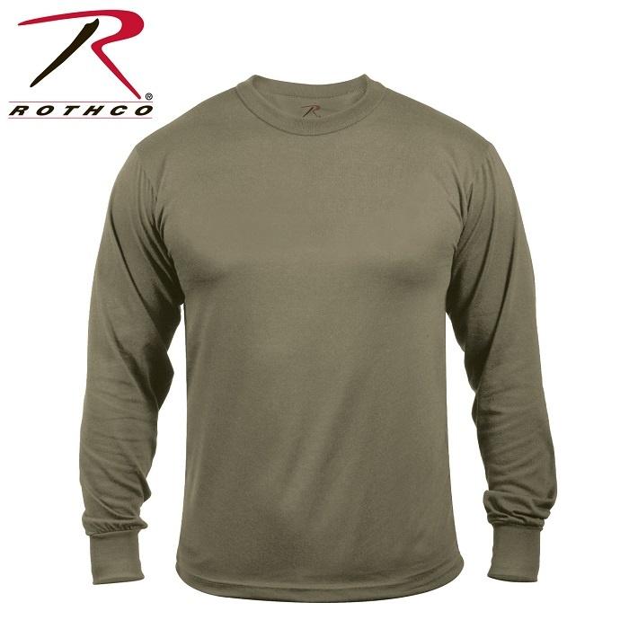 Rothco Moisture Wicking Long Sleeve Shirt - Olive Drab