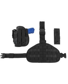 Drop Leg Molle Panel Holster - Black