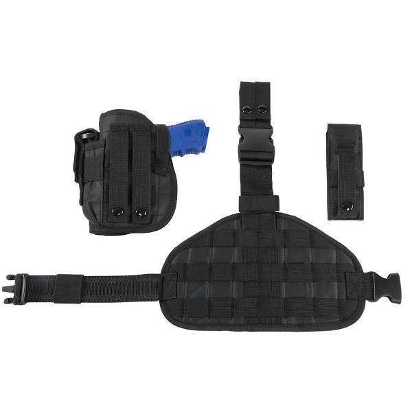 NcSTAR Drop Leg Molle Panel Holster - Black