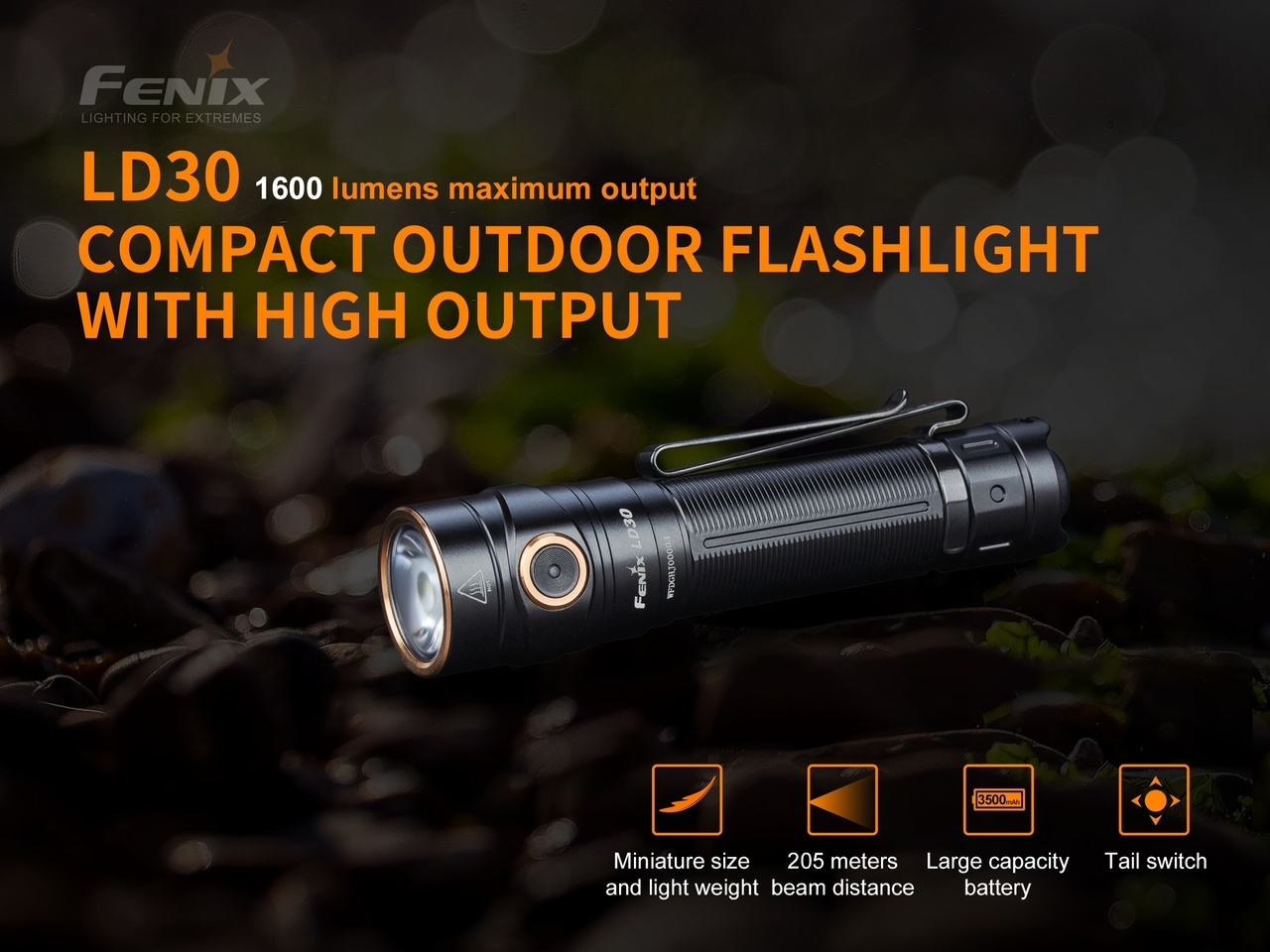 Fenix LD30 with battery