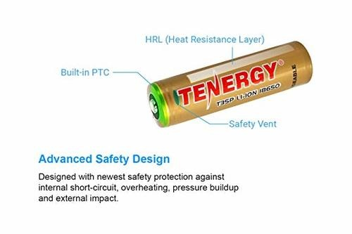 Tenergy T35P 18650 3500 mAh Rechargeable LI-ion Battery