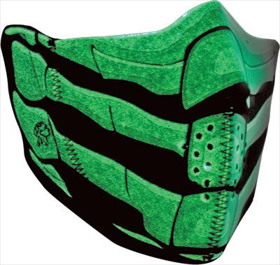 ZANheadgear Neoprene ZANheadgear Modi-Face Detachable Glow Bone Mask