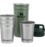 Stanley Advanced Gift Box Shot Glass Set Hammertone Green + Flask