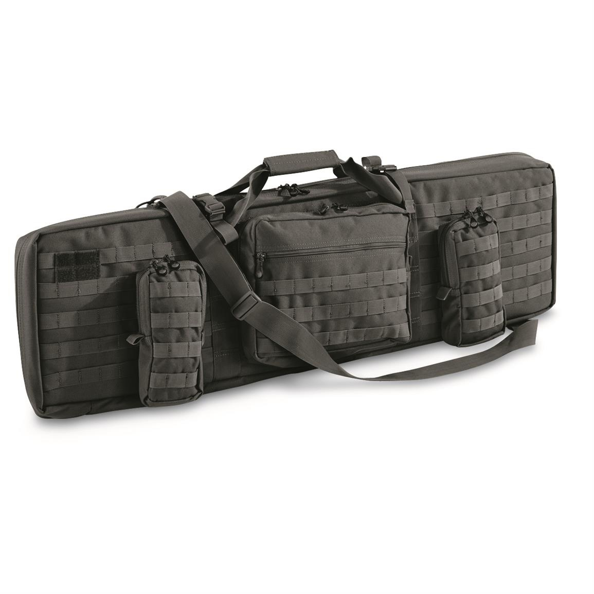 """Combat Featured 42"""" Ultimate Dual Weapon Case Rifle Bag Black"""