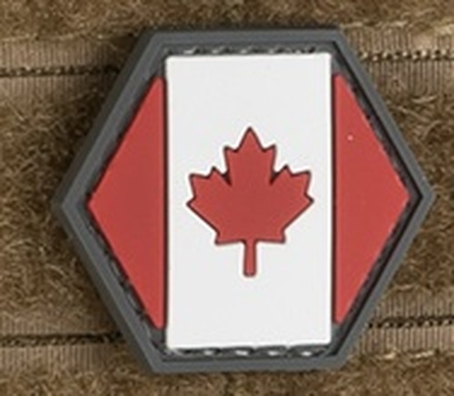 Operator Profile PVC Hex Patch Canada Flag