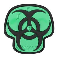 Maxpedition Biohazard Skull Morale Patch SWAT