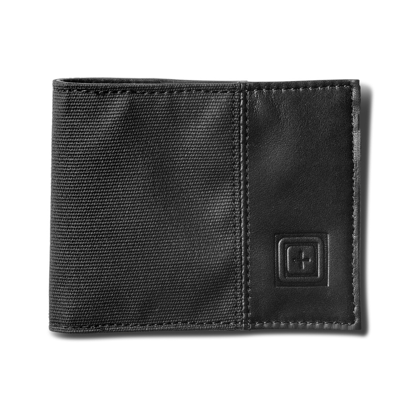 5.11 Tactical Phantom Leather Bifold Wallet : Black