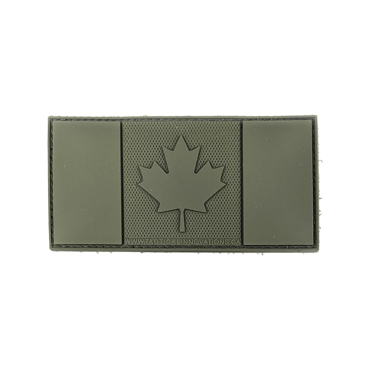 Tactical Innovations Canada PVC Patch - Canada Flag Subdued Green