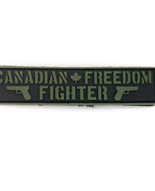 PVC Patch - Canadian Freedom Fighter Black/OD