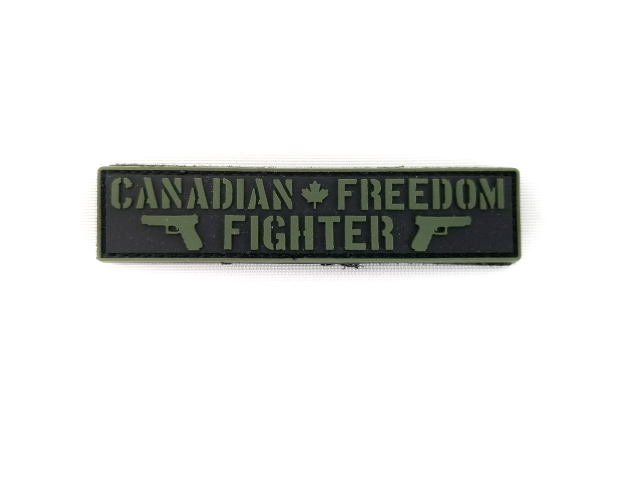 Tactical Innovations Canada PVC Patch - Canadian Freedom Fighter Black/OD