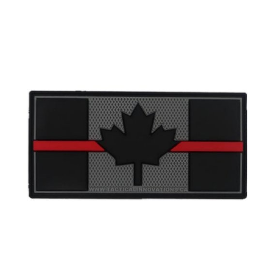 Tactical Innovations Canada PVC Patch - Canadian Thin Red Line 1.5x3