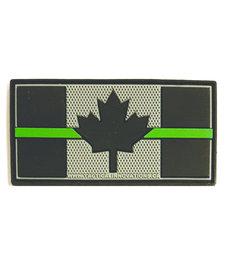 PVC Patch - Canadian Thin Green Line 1.5x3