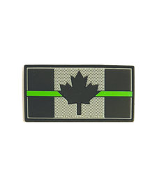PVC Patch - Canadian Thin Green Line 1.5x3