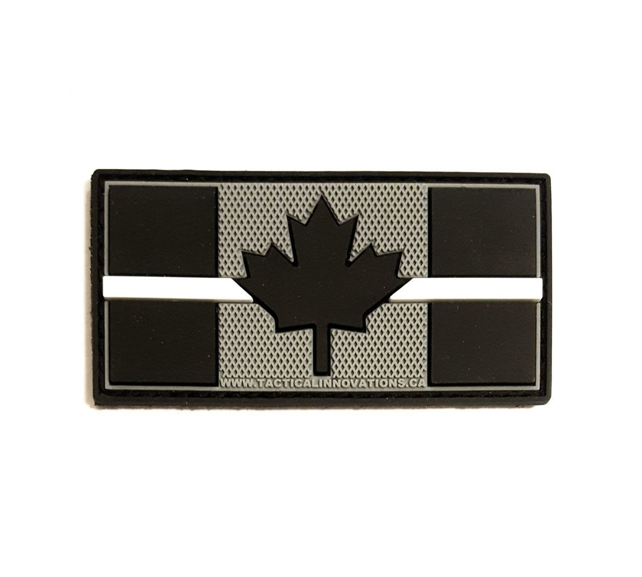 Tactical Innovations Canada PVC Patch - Canadian Thin White Line 1.5x3