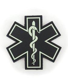 PVC Patch - EMS Emblem - Single Snake - Glow