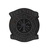 Tactical Innovations Canada PVC Patch - Volunteer Firefighter - Subdued Grey
