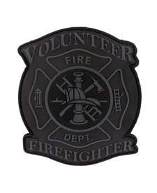 PVC Patch - Volunteer Firefighter - Subdued Grey