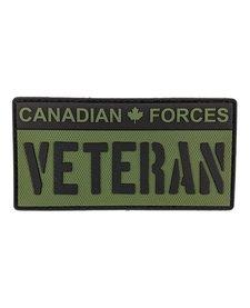 PVC Patch - CAF Veteran - Black/OD