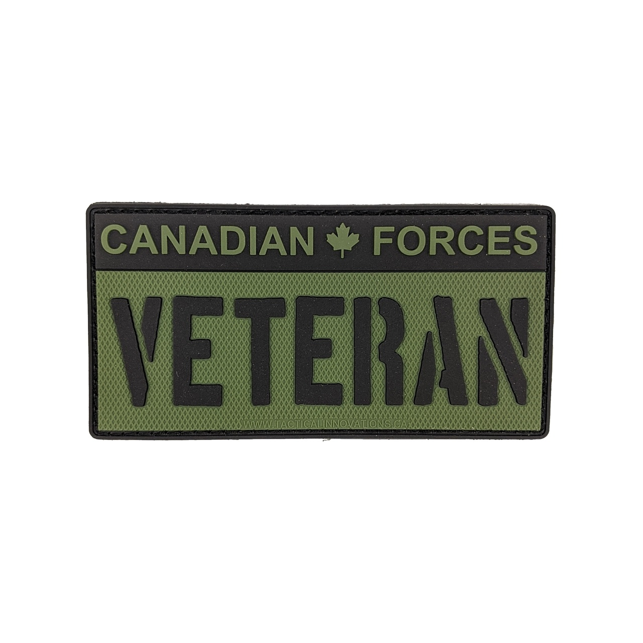 Tactical Innovations Canada PVC Patch - CAF Veteran - Black/OD