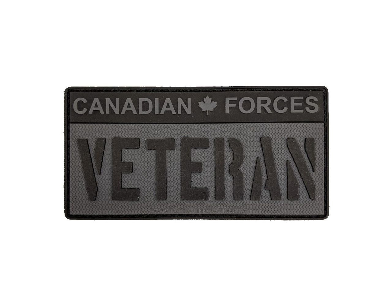 Tactical Innovations Canada PVC Patch - CAF Veteran - Black/Grey