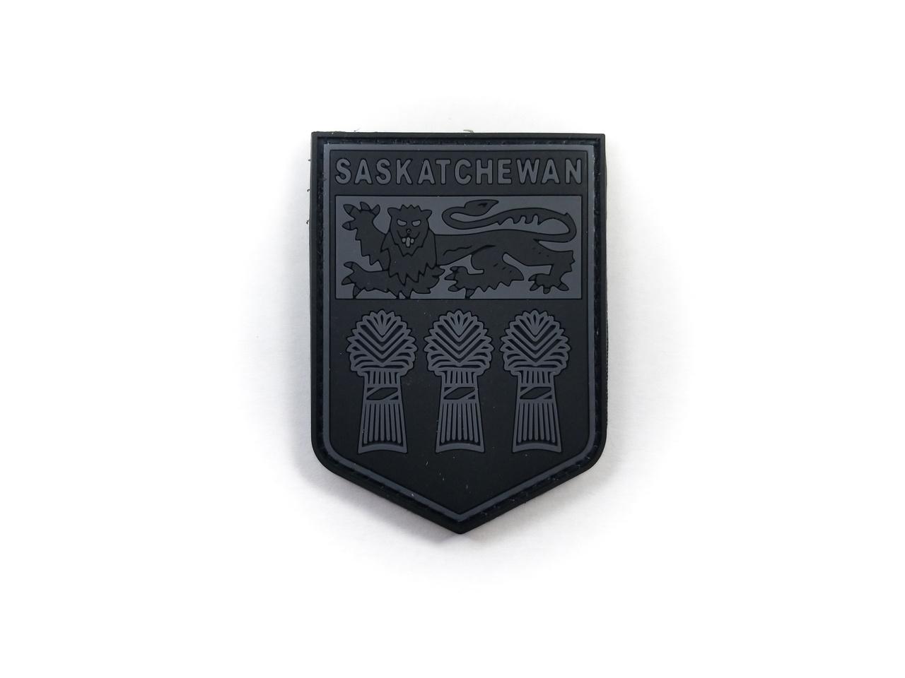 Tactical Innovations Canada PVC Patch - Saskatchewan - Black/Grey