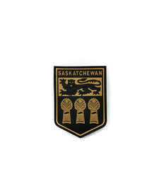 PVC Patch - Saskatchewan - Black/Tan