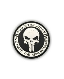 PVC Patch - God is the Judge - Black/White