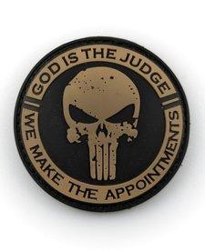 PVC Patch - God is the Judge - Black/Tan