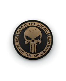 PVC Patch - God is the Judge - Black/Tan