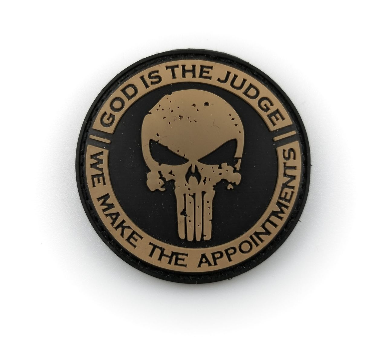 Tactical Innovations Canada PVC Patch - God is the Judge - Black/Tan