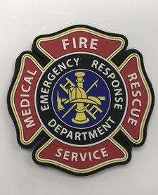 PVC Patch - Fire Medical  Rescue Services Emblem