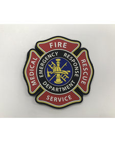PVC Patch - Fire Medical  Rescue Services Emblem