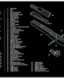 Firearms Cleaning Mat Ruger Mini 14 Diagram (12x36)