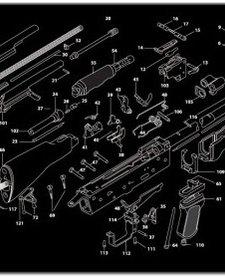 Firearms Cleaning Mat AK47 Diagram (12x36)