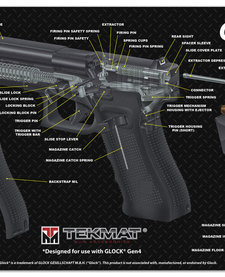 Firearms Cleaning Mat Glock Diagram (11x17)
