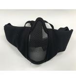 Krousis Face Padded Carbon Steel Mask Black