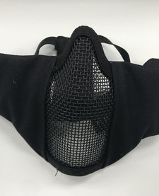 Face Padded Carbon Steel Mask Black