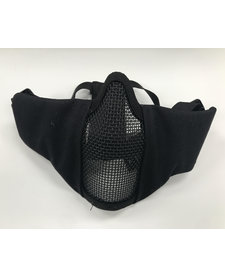 Face Padded Carbon Steel Mask Black