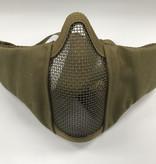Krousis Face Padded Carbon Steel Mask Dark Earth