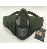Krousis Face Padded Carbon Steel Mask Olive Drab