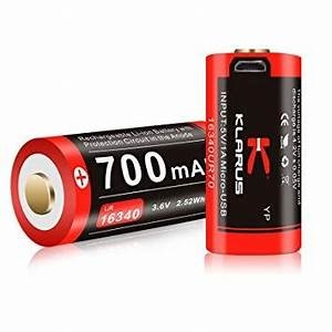 Klarus CR123A Rechargeable Battery (700mAh)